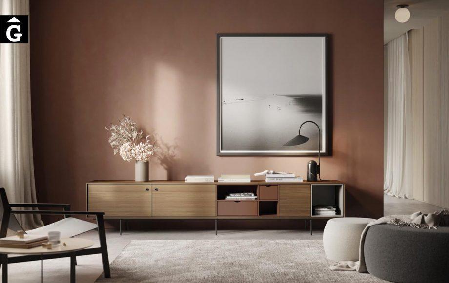 Moble tv amb potes metall elegant Aura