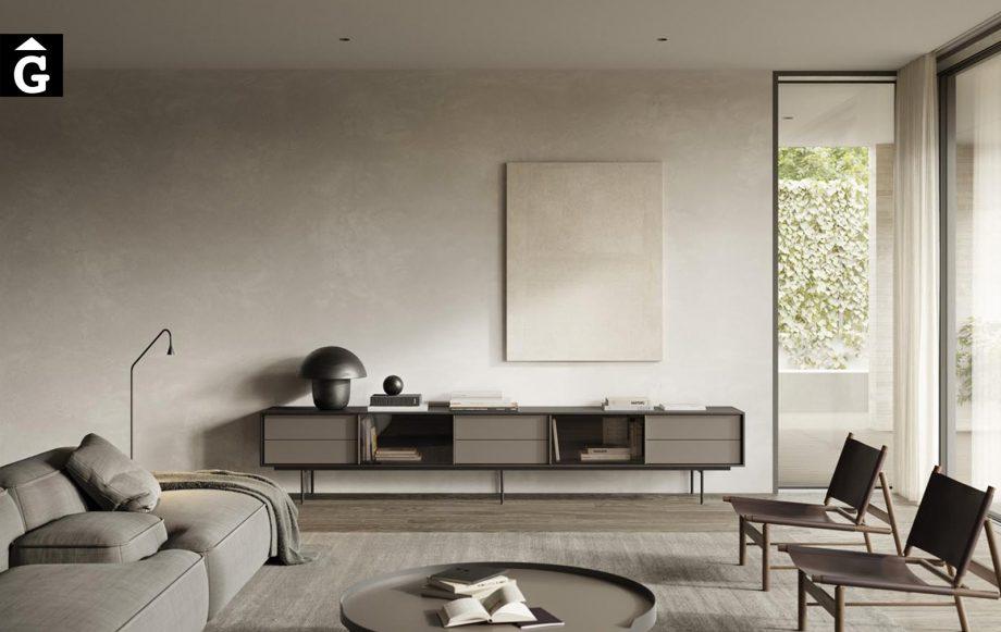 Moble tv amb potes metall elegant