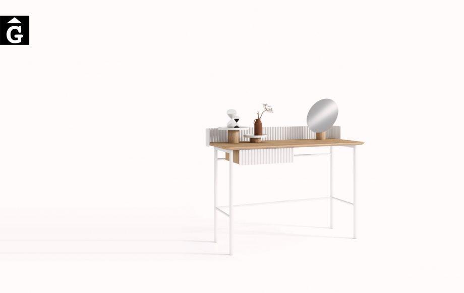 Escriptori modern Hit | Xapa natural de roure i laca blanca | Mobenia | Hit i Set | mobles contemporanis amb tradició | mobles Gifreu